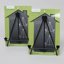 Wire Iron Easel Stand 7.7in H 2ast Black W/heart Or Star Ends Houseware Sleeve Backer Card