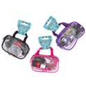 Sewing Kit W/travel Pouch 52pc 3ast Color Pink/purple/black Sewing Header