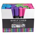 Shelf Liner 12x60in 4ast Bright Colors In 48pc Pdq/belly Band