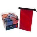 Dry Bag For Equipment 24pc Pdq 12.625x6.875in Blue/red Camping Acetate Pdq/opp Bag