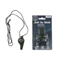 Whistle Multi-use Emergency W/compass & Thermometer Black Camping Blister Card