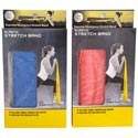Exercise Resistance Stretch Band Med Resist/2ast Clrs/full Body Toning Tpr/box   Blue/red Clr