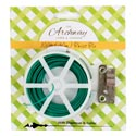 Twist Tie 100ft W/dispnsr/cutter 2ast 12pc Mdsgstrip Grdn Tcd Lime/forest Green