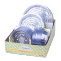 Planter Saucers Clear 3ast Plst Sizes In 86pc Pdq/garden Label 3pk-10in/4pk-8in/6pk-6in