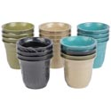 Planter Bamboo Fiber 4pk 1multi- 4solids Biodegradable 3.54x3.15h Shrink W/l&g Label