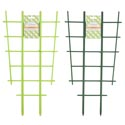 Trellis 2pk For Planters Green **plst 18.75x10 Grdn Tiecard Lime Green & Forest Green