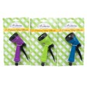 Hose Nozzle/sprinkler 5 Function Green/blue/purple Garden Tiecard