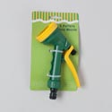 Hose Nozzle/sprinkler 5 Pattern Green W/yellow Handle/nozzle Garden Tie On Card