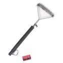 Grill Brush 6.5in Wide Sweep 17in Black Handle/bbq Ht Stocklot