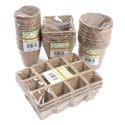 Peat Pots 4ast Shapes 3-12ct Natural Color Garden Shrink See Notes For Item Breakdown
