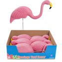 Flamingo Yard Decor 16.5x5x19 W/2 Metal Stake In 6pc Pdq/ht