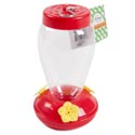 Hummingbird Feeder Plastic 3.9 X 6.7in Red W/yellow Flower Garden Ht W/instructions