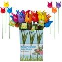 Pinwheel Tulip Yard Stake 18in 6asst Color W-k/d Display Box Ea/garden Ht