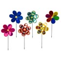 Pinwheels 21in 6ast Flower Garden Metallic/label W/k/d Display