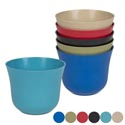 Planter Bamboo Fiber 5.71x4.61 Round Biodegradable 6asst Colors