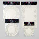 Doilies Paper 4ast Size 8-20ct Round & Rectangle White Gov Party Polybag Header