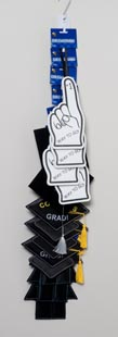 Graduation Gift Card Holder 4asst Caps/gown/#1 Finger On Merchandising Strip Grad Hdr