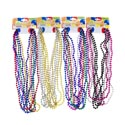 Necklace Beaded 30inch 6ct 4asst Metallic Multi Pks Party Barbell See N2 For Color Breakdown