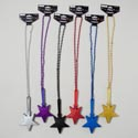Party Clapper Glitter Star On 32in Bead Chain 6ast Colors Gov Party Barbell Card
