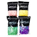 Shreds 1.75oz Pearlized/paper Blend 4asst In 36pc Pdq Pink/green/yellow/blue