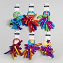 Bow Curly Jumbo W/bday Tag 6ast Brite Mixed Colors 18mm Wth Party Tie On Card