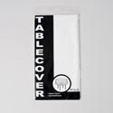 Tablecover 84in Round Solid White Pp Plastic Printed Polybag