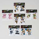 Face Art Sequin Decor New Years 6ast Designs On 12pc Mdsgstrip Pb Insert/pbslv