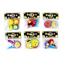 Party Favor 4pk Emoticon Faces 6asst Styles In Polybag/header