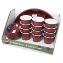 Game Day Partyware 24pc Pdq 4 Platters/8-2pk Bowls/12 Cups Double Wall Color Label/upc