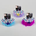 Tiara Happy New Year Flashing Led 3ast Pink/purple/blue New Year Headercard