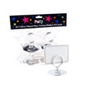 Place Setting Holder W/card 4ct Silver Plastic