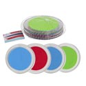 Coaster 4pk Clear Plstc Frame W/summer Color Foam Insets Mesh Bag W/summer Hangtag