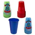 Cups Plastic 16pk 16oz 4 Summer Colors Disposable In Prntd Plybg