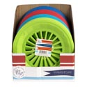 Paper Plate Holder 3pk Plastic 4ast Summer Colors In 36pc Pdq Summer Shrink/label