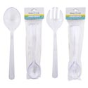 Serving Spoons/forks Plastic S/4 Clear 10in Kitchen Pbh ** No Amazon Sales **