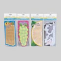 Shopping List Diecut W/magnet 4ast Produce Shapes 8.5 X 3.5in