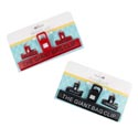 Bag Clip 3pk/1-8in Giant + 2 2in Small Clips Red & Black B & C Kitchen Tie-on Card