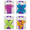 Bag Clips 2/3pk 4asst Neon Summer Colors Tie On Card ** No Amazon Sales **