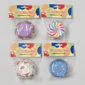Baking Cups 50ct 2in Dia Bday Prints/4ast On 12pc Merchstrip Party Pbh