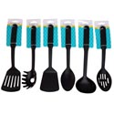 Kitchen Tool Nylon 6ast Styles Black Spoon/turner/ladle/pasta Kitchen Tie On Card