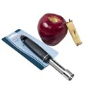 Apple Corer Stainless W/black Pp Handle Kitchen Tie Card