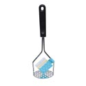 Potato Masher Chrome Plated W/pp Handle Traditional Style Kitchen Foldover Wrap Card