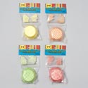 Baking Cups W/plastic Picks 48ct 4ast Summer Gingham Colors/12pc Merchstrip Summer Pbh