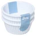 Ramekin 3pk White Plastic Kitchen Label/upc