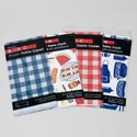 Tablecover 54x108 4ast Bbq Print Pe Plastic Printed Polybag Red/blue Checkered/2 Prints