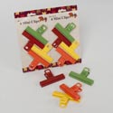 Bag Clip 4pk Mini Plastic 3.5 X 2.125in 4ast Colors Perpk Kitchen Tie On Card