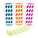 Ice Cube Tray 15 Easy Popout Slots 4 Summer Colors Summer/ht