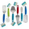 Kitchen Gadgets 6ast W/plastic Handle Summer Colors B&c Ht