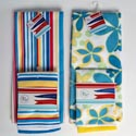 Kitchen Textiles 2ast Summer Microfiber Prints Ht/jhook 2pk Dishcloth/1 Towel