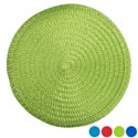 Placemat Round 15in 4ast Summer Colors/pp Fiber Summer Ht/jhook